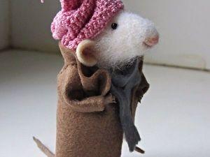 Аукцион на мышонка в пальто! Аукцион закрыт!!!. Ярмарка Мастеров - ручная работа, handmade.