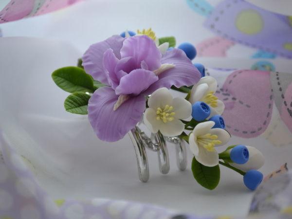 Такие разные цветочные заколочки   Ярмарка Мастеров - ручная работа, handmade