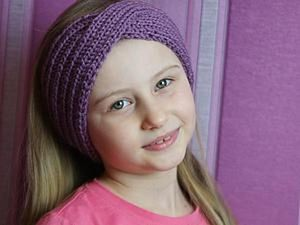 The Easiest DIY on Knitting a Beautiful Headband for Girls Ever. Livemaster - handmade