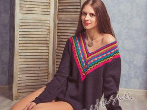 Вяжем свитер «Фрида»: инструкция с выкройкой | Ярмарка Мастеров - ручная работа, handmade