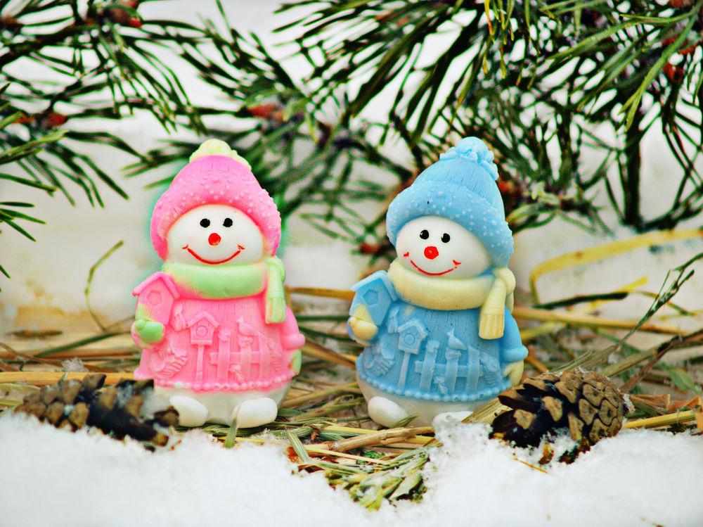 снеговик, новогодние подарки