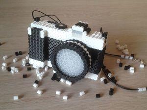 Фотоаппарат - игрушка из термомозаики. Ярмарка Мастеров - ручная работа, handmade.