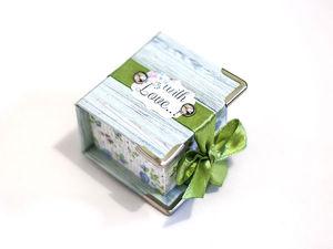 Мастер-класс: как создать подарочную коробочку для кольца. Ярмарка Мастеров - ручная работа, handmade.