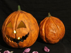 Создаем светящуюся тыкву-фонарь для костюма на Хэллоуин. Ярмарка Мастеров - ручная работа, handmade.