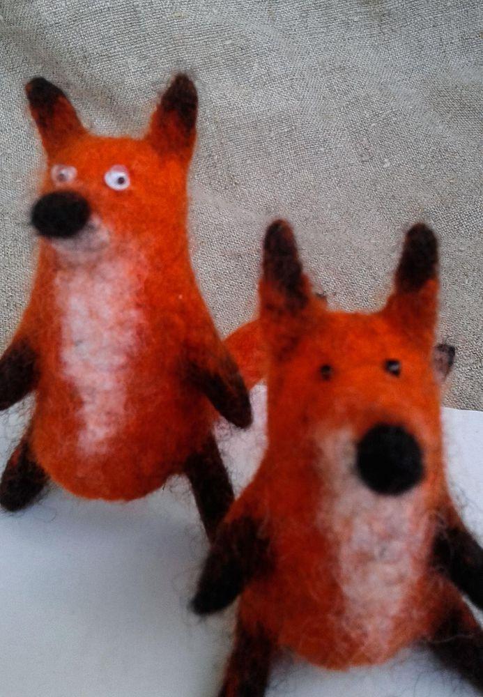 пальчиковый театр, зверята, шерсть, бибабо, лисички