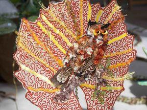 Люневильская вышивка листьев от Caroline Gamb. Ярмарка Мастеров - ручная работа, handmade.