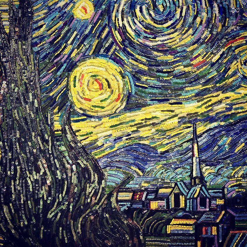люневильский крючок, картины, звездная ночь
