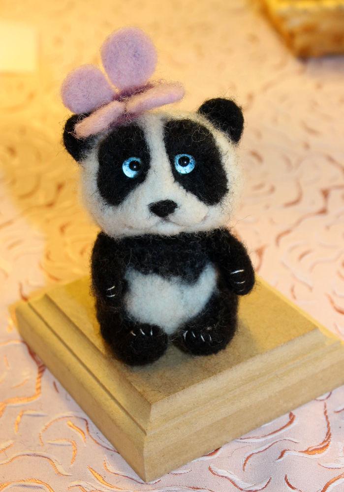 мк по валянию, валяние из шерсти, панда игрушка