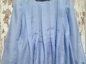 Цены снижены! Новая блузка небесного цвета!. Ярмарка Мастеров - ручная работа, handmade.