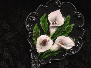 Callas.Брошь из полимерной глины. Цена 2000 р.Готовая работа. Ярмарка Мастеров - ручная работа, handmade.