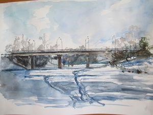 Мост через Аркарку. Времена года. | Ярмарка Мастеров - ручная работа, handmade