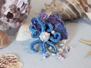 Как сделать заколку «У берегов Атлантиды» из Эва-фома и фоамирана | Ярмарка Мастеров - ручная работа, handmade