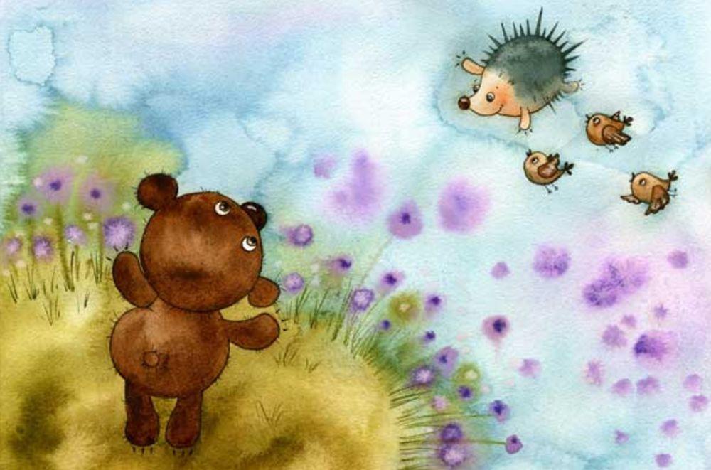 Прикольные картинки с ежиком и медвежонком