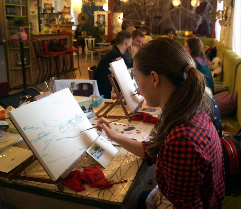 живопись маслом, учиться рисовать, хорошее настроение