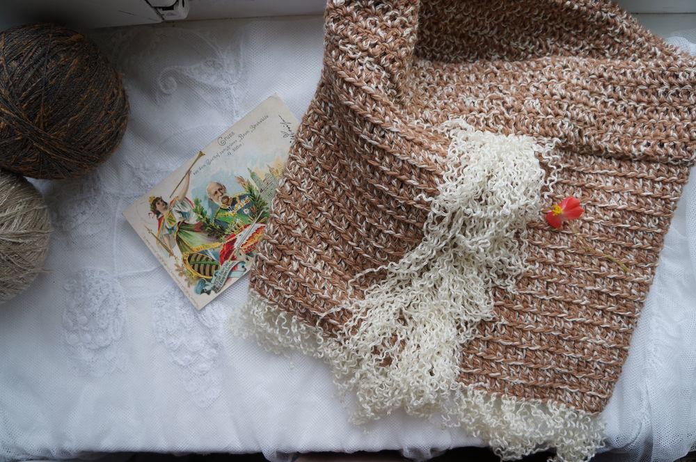 вязание, модный аксессуар, труба, купить снуд, бохо