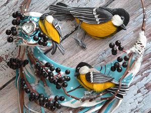Комплект  «Солнечные птички». Ярмарка Мастеров - ручная работа, handmade.