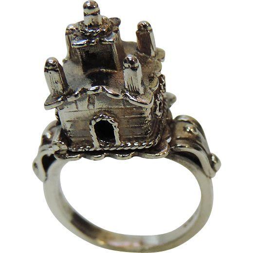 Sterling Silver Jewish Wedding Marriage Ring, Judaica.: