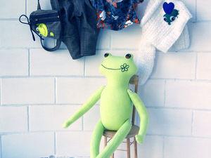 Видео с игрушкой Лягушонок — Путешественник. Ярмарка Мастеров - ручная работа, handmade.