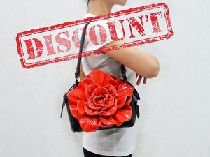 Аукцион на кожаные сумки-цветы! 3-й день из четырех. Ярмарка Мастеров - ручная работа, handmade.