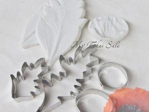 Мак из глины, мастики, фоамирана, шоколада. Ярмарка Мастеров - ручная работа, handmade.