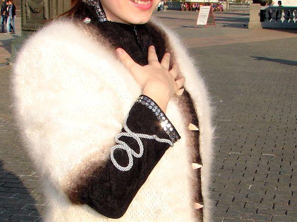 Акция!!! – скидка 50%  на жакет из собачьей шерсти «Пушистая Аврора» ручной работы.   Ярмарка Мастеров - ручная работа, handmade