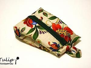 A Tutorial on Sewing a Cosmetic Bag of an Unusual Shape. Livemaster - handmade