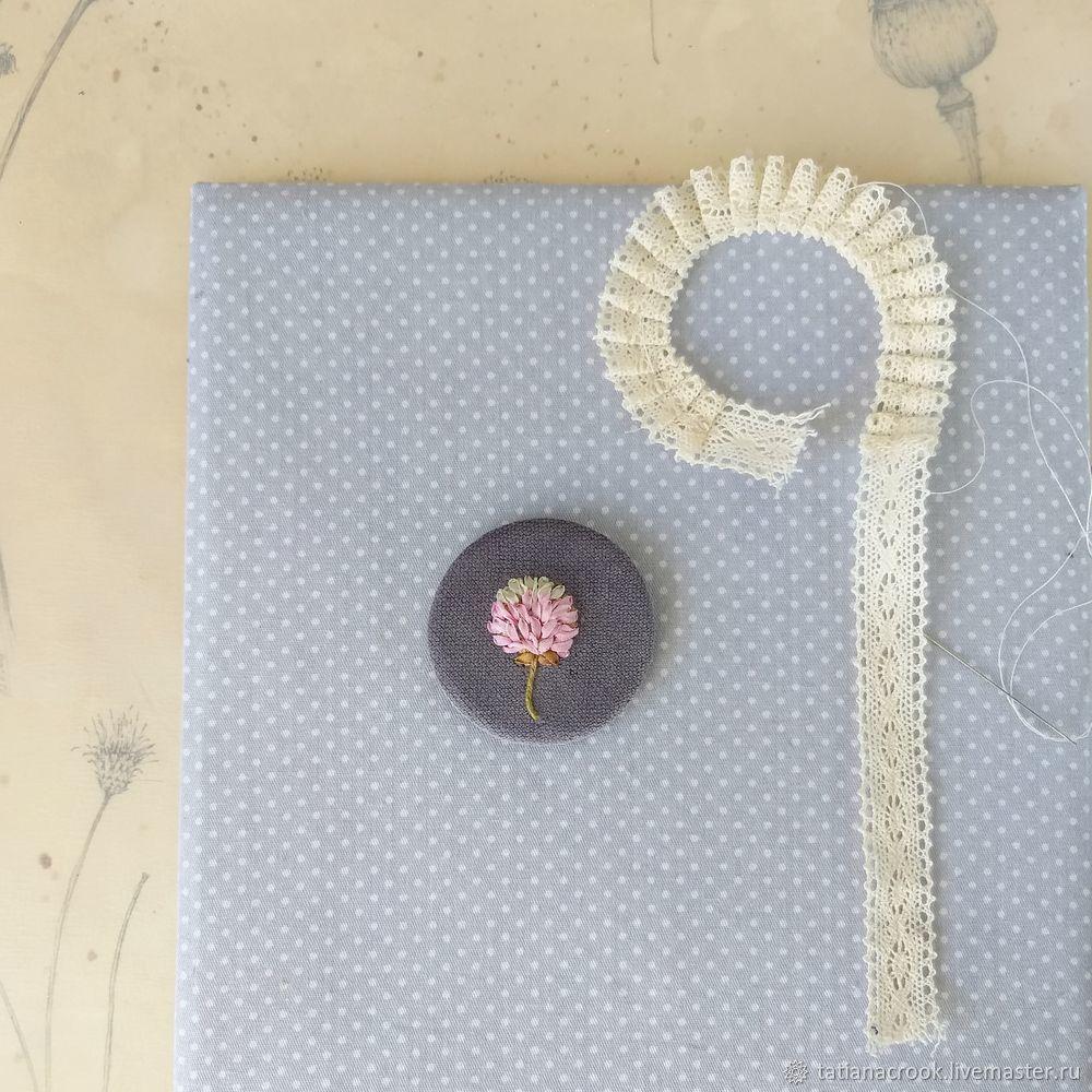 цветок вышивка, пошаговый мастер класс