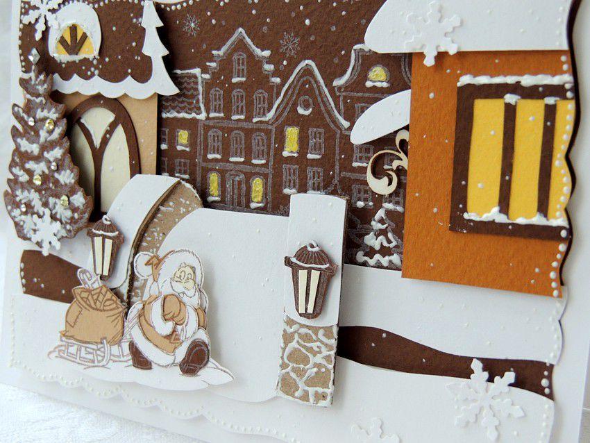 открытка ручной работы, зимние праздники