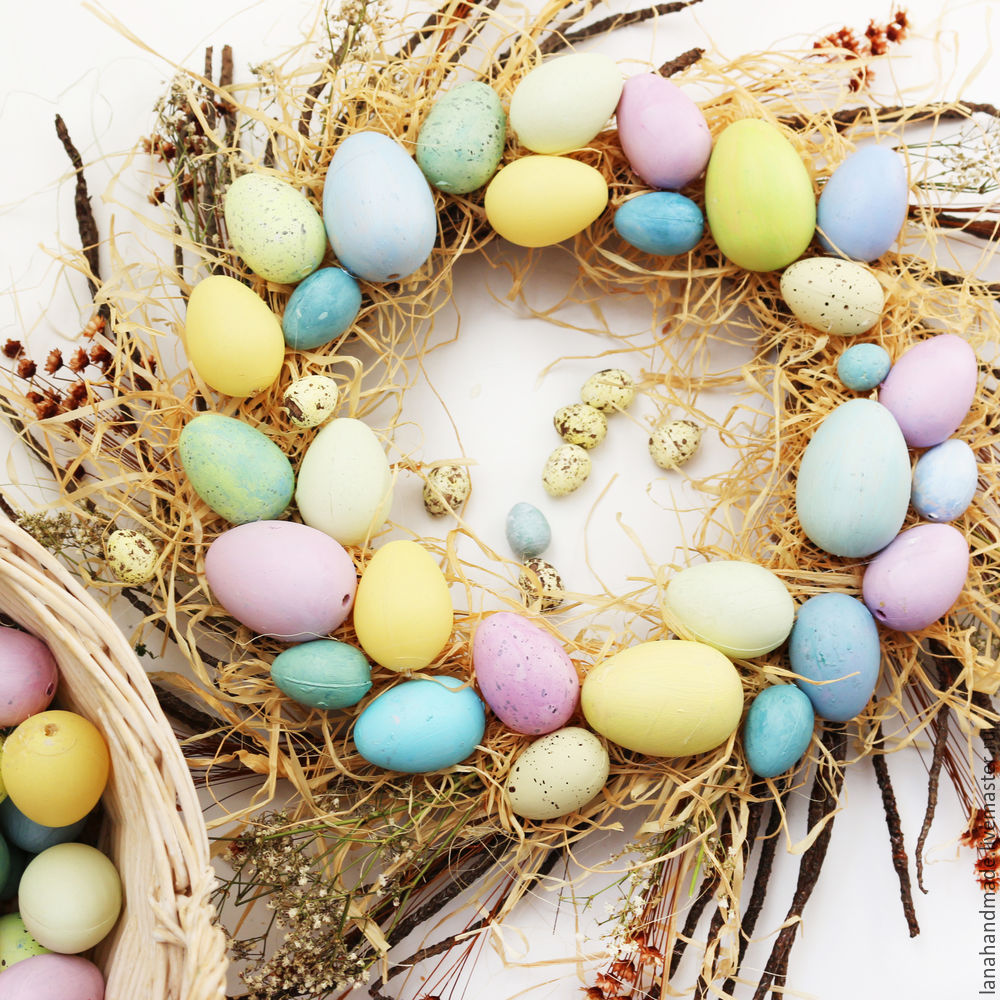 Create an Easter Wreath with Your Own Hands!, фото № 9