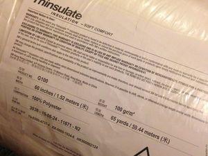 Последний брикет утеплителя Тинсулейт G100, при оформлении заказа сегодня — сделаю скидку на доставку!. Ярмарка Мастеров - ручная работа, handmade.