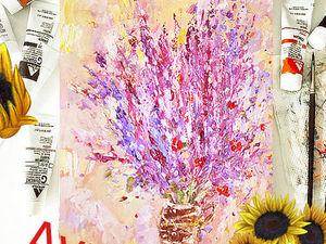 АУКЦИОН Картина маслом «Лаванда purple» 50/40см. Ярмарка Мастеров - ручная работа, handmade.