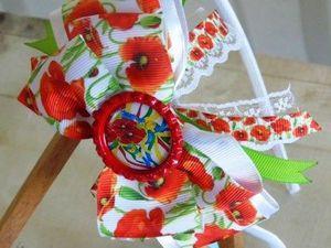 Видео мастер-класс: ободок канзаши «Украиночка». Ярмарка Мастеров - ручная работа, handmade.