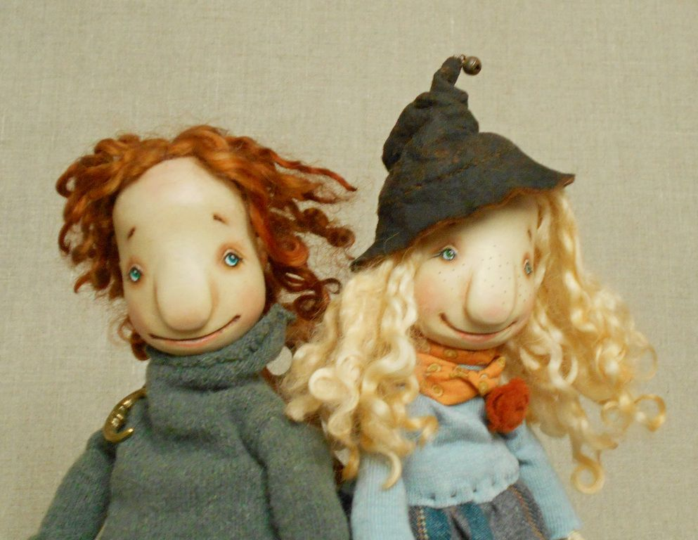 куклы деревянные, осень