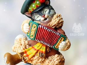Видео мастер-класс: лепим из полимерной глины фигурку «Кот на Масленице». Ярмарка Мастеров - ручная работа, handmade.