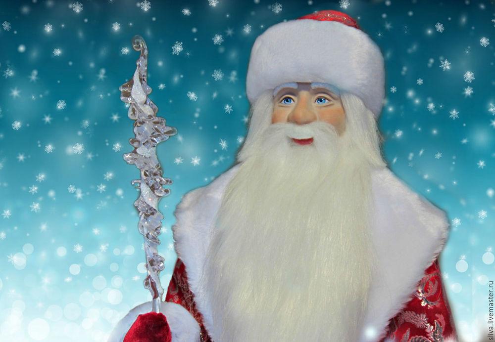 дед мороз, новый год 2017, подарок к празднику, кукла в подарок, новогодний подарок, кукла ручной работы, кукольное очарование, красивая кукла