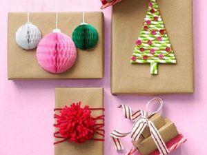 20 идей упаковки подарков в крафт-бумагу. Ярмарка Мастеров - ручная работа, handmade.