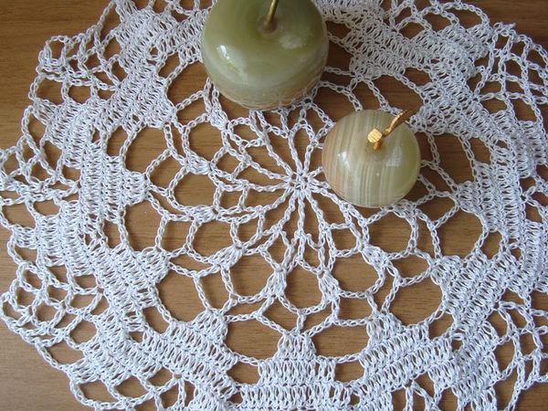 В белом цвете. Мои  ажурные салфетки | Ярмарка Мастеров - ручная работа, handmade