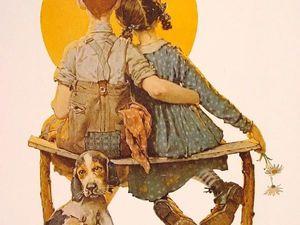 Дети в творчестве американского художника Norman Rockwell. Ярмарка Мастеров - ручная работа, handmade.