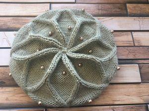 Вяжем берет спицами от Desi Knitter. Ярмарка Мастеров - ручная работа, handmade.