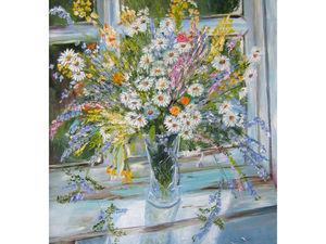 Картина маслом Любимые цветы ромашки. Ярмарка Мастеров - ручная работа, handmade.