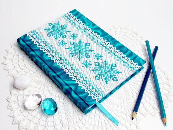 Делаем с нуля блокнот «Снежинка»   Ярмарка Мастеров - ручная работа, handmade