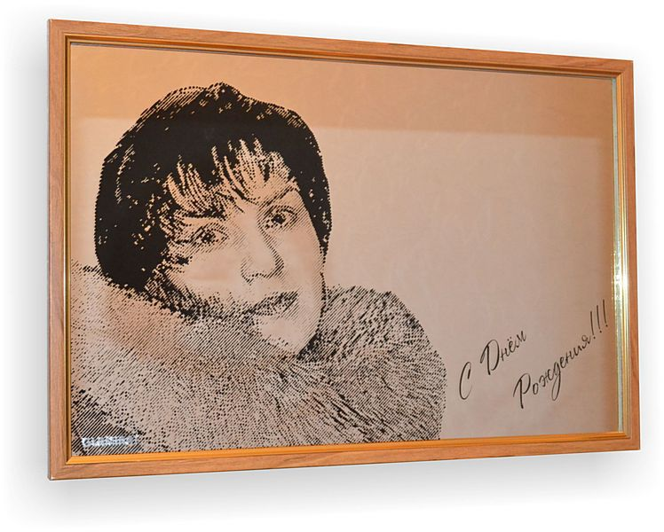 портрет по фото, портрет на зеркале, портрет по фотографии