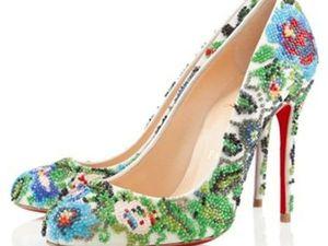 Для гурманов: изысканная обувь с вышивкой. Ярмарка Мастеров - ручная работа, handmade.