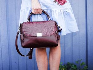 """Новый оттенок сумки """"Роуз"""". Ярмарка Мастеров - ручная работа, handmade."""