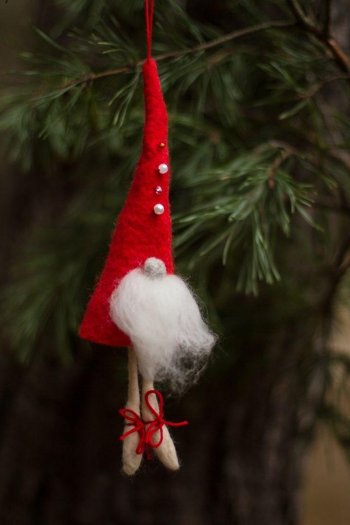 Рождественские гномы из войлока, фото № 2
