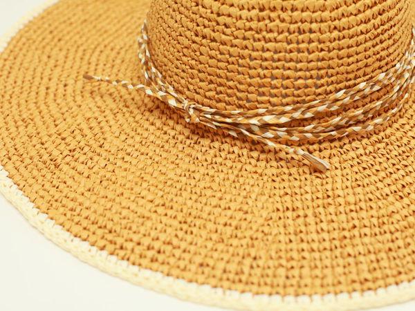 МК Шляпа из рафии   Ярмарка Мастеров - ручная работа, handmade