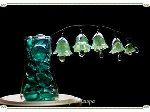 «Хрустальные колокольчики» из домашнего прозрачного холодного фарфора. Ярмарка Мастеров - ручная работа, handmade.