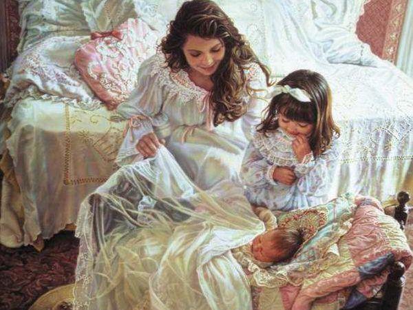 Счастливый мир материнства и детства в картинах художницы Sandra Kuck   Ярмарка Мастеров - ручная работа, handmade