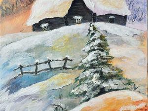 Новогодние картины по 900 руб!. Ярмарка Мастеров - ручная работа, handmade.