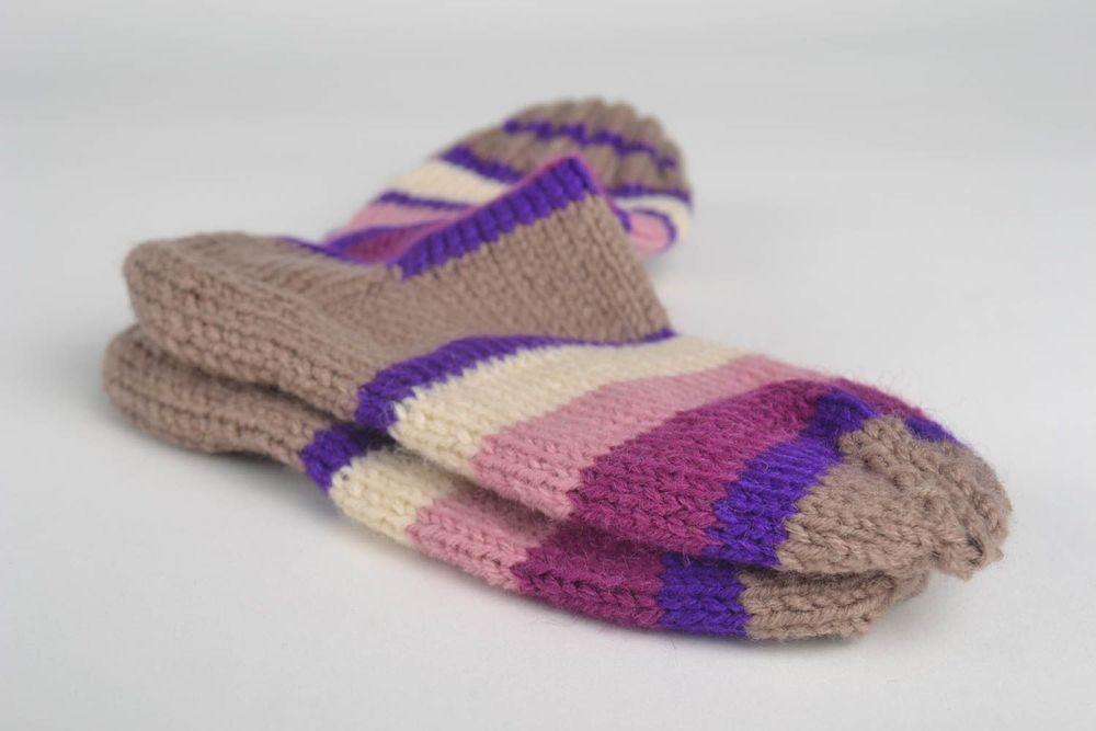 Вязаные носки в полоску картинки